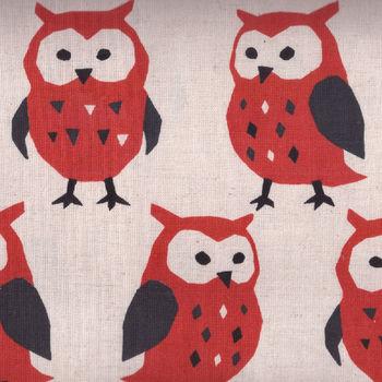 KOKKA CoLtd CottonLinen OWL Fabric PA38400  400A01