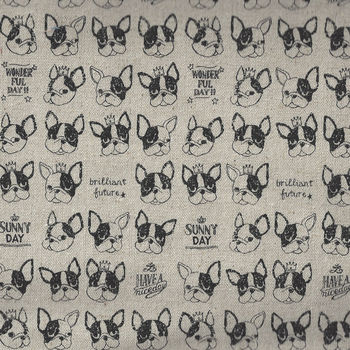 KOKKA French Bulldog CottonLinen YKA560301A00