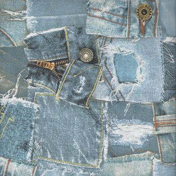 KOKKA Vintage Jeans Denim CottonLinen Blend