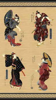 Kabuki Panel by Northcott Fabric Designs Design 20885M Colour 99
