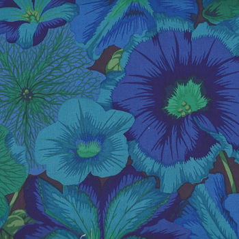 Kaffe Fassett Collective by Philip Jacobs for Free Spirit PWPJ 050 Petunias Blue