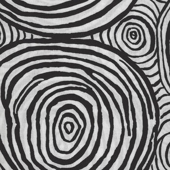 Kaffe Fassett Collective for Free Spirit  PWBM 070 Onion Rings BlackandWhite