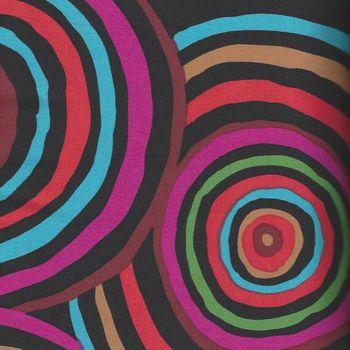 Kaffe Fassett Wide Quilt Backing for Rowan Fabrics QBGP002BLACK Circles