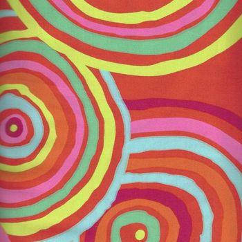Kaffe Fassett Wide Quilt Backing for Rowan Fabrics QBGP002REDXX Circles