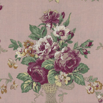 Kono Sanae For YUWA Fabrics of Japan Dusky Pink Rose Baskets