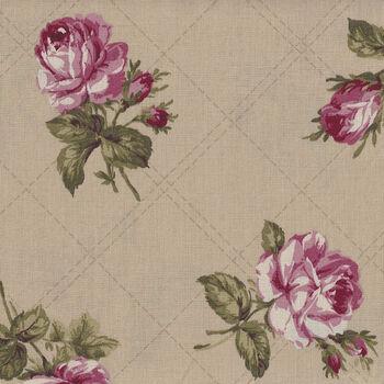 Kono Sanae For YUWA Fabrics of Japan KS 824558 Color E Pale Coffee