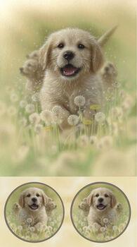 Labrador Pup Fabric Panel from QT Fabrics Artworks XV Digital 24 x 44 164927626A