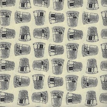 Lady Claire from Blank Textiles Pattern BTR7231 Col 041 Cream Thimbles