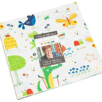 Later Alligator Layer Cake Precut 42 10inch Squares by Sandy Gervais For MODA 17980LC