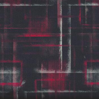 Lines And SquaresColour Brush From Stof 4501 248 RedBlackWhite