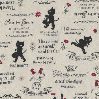 Little Heroines by Lecien Fabrics Cotton 3187310 Puss In Boots