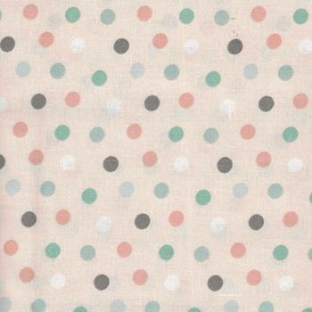 Little Ones by 3 Wishes Fabrics Lo Multi Dots PinkPeach 12053 PinkPeach