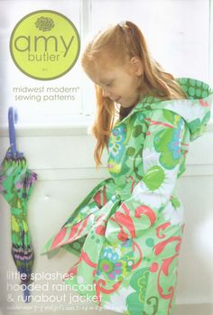 Little Splashes Hooded Raincoat and Runabout Jacket from Amy Butler