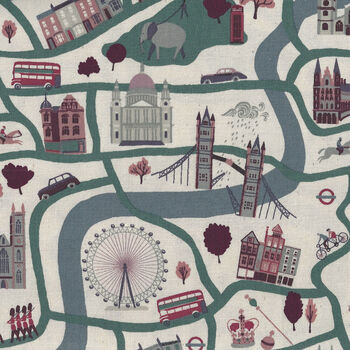 London Town From Cotton+Steel Forever CSSY100BL2U Col Blue Unbleached