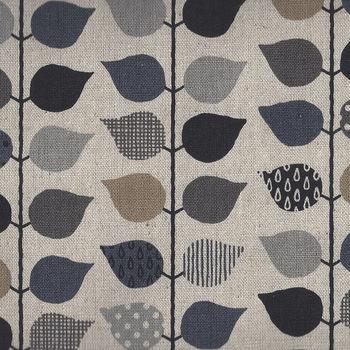 Made In Japan Cotton Linen Blend Leaves H7016 Design3 ColourE