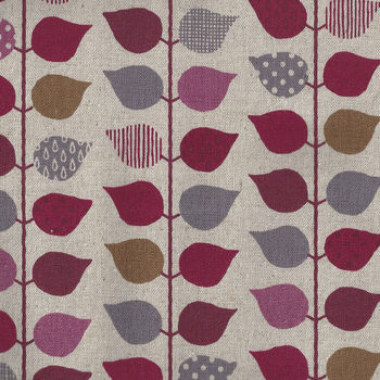 Made In Japan Cotton Linen Leaves H7016 Design3 ColourA