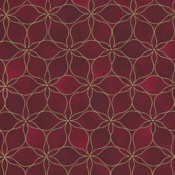 Magic Christmas From Stof Fabrics 4597 407 Rich BergundyGold