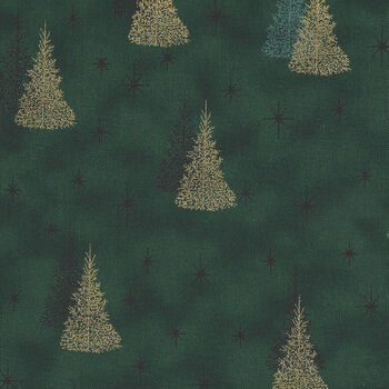 Magic Christmas From Stof Fabrics 4597 802 Rich GreenGold