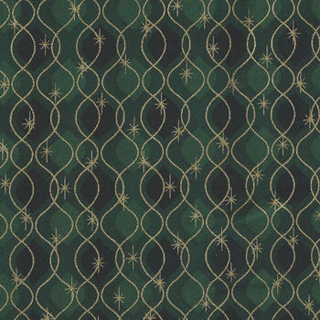 Magic Christmas From Stof Fabrics 4597 808 Rich GreenGold