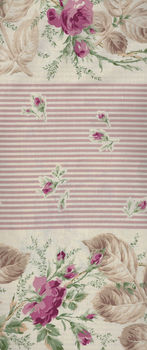 Mary Rose for Quilt Gate Fabric RU2320 Colour 11B Border Print Stripes And Roses