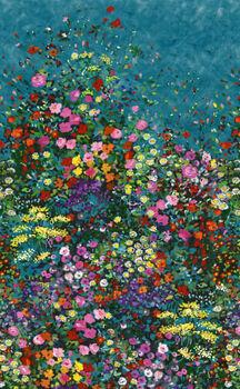 Michael Miller Eat Sleep Garden Cotton Fabric Patt  DCX9059 Bowers Of Flowers