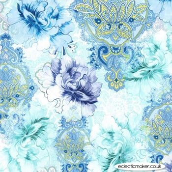 Michael Miller FLOWERBURST 7294 Col Blue