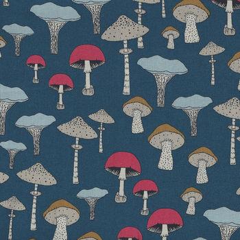 Michael Miller Fabric ChampignonsSweet Mushrooms DC8319TealD
