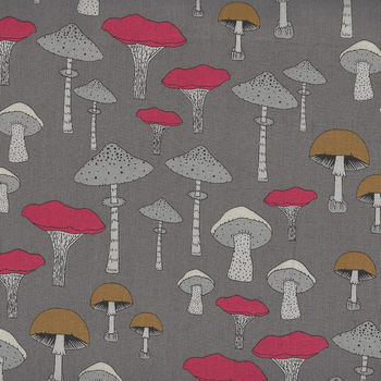 Michael Miller Fabric ChampignonsSweet Mushrooms DC8319TruffleD