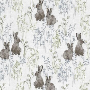 Midsummer By Hackney and Co OekoTex Pattern 523172 White