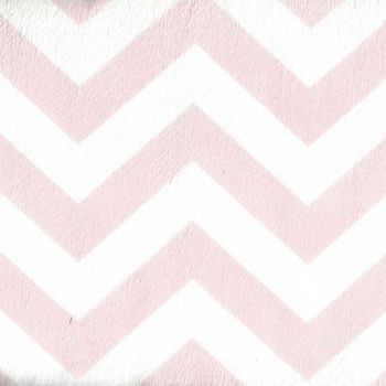 Minky Chevron Small Wide From EZ Fabrics Inc Colour Light PinkWhite
