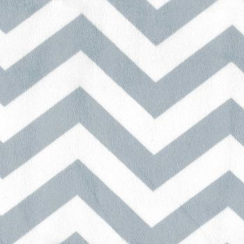 Minky Chevron Small Wide From EZ Fabrics Inc Colour whitelight blue grey