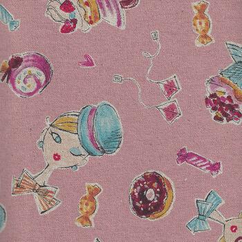 Miyako Kawagachi by Kei Fabrics Japan CottonLinen Blend MY088CL Colour P Pink