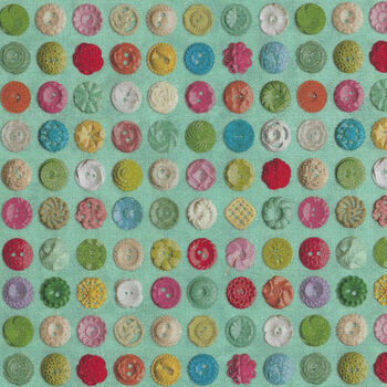 Moda Flea Market Mix by Cathe Holden MD735615 Green Buttons