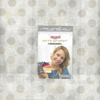 Moda Grunge Hits The Spot  Layer Cake Precut Squares 10andquot x 42 by Basic Grey 30140LC