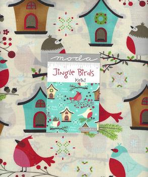 Moda Jingle Birds Layer Cake Precut Squares 10andquot x 42 by Keiki  33250LC
