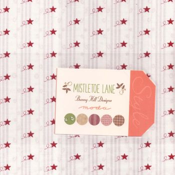 Moda Layer Cake 10andquot 42 Sqares Mistletoe Lane Patchwork and Quilting Fabric