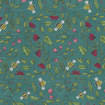 Moda Painted Garden by Robin Pickens M48662 Colour 12 Teal