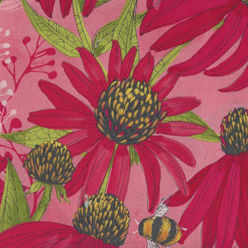Moda Painted Meadow by Robin Pickens M48660 Colour 16  Medium Coral