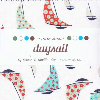 Moda Precut 5andquot Sqares x 42 Day Sail Patchwork and Quilting Fabric