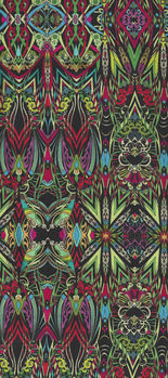 More Is More  by Paula Nadelstern for Benartex 3317 Fusion And Symmetry Lime Green