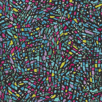 More Is More  by Paula Nadelstern for Benartex 3317 Stained Glass Mosaic Blue