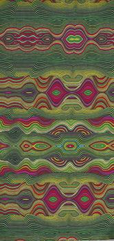 More Is More  by Paula Nadelstern for Benartex 3317 Stripeadelic Lime Green