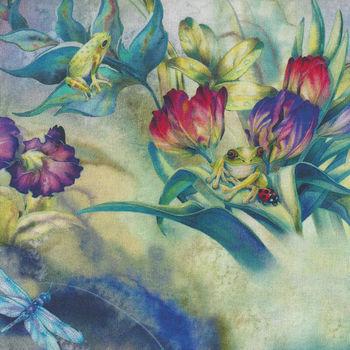 Morningmoon Fairies for Robert Kaufman Digital Print ABKD17646238 Garden