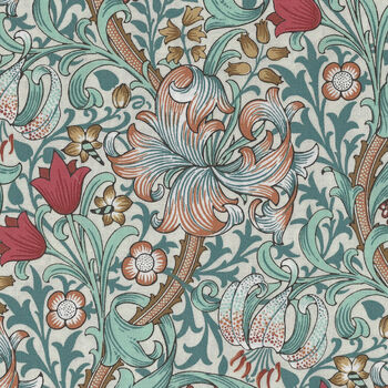 Morris and Co Standen from Free Spirit PWWM 028 Color Autumn Pattern Golden Lily