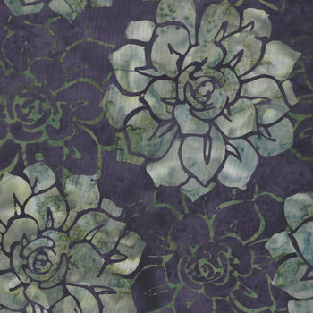 Oasis Batiks By McKenna Ryan for Hoffman HMR 12 034 Eggplant