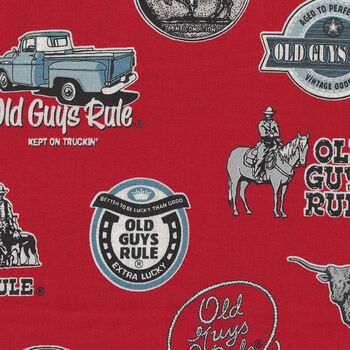 Old Guys Rule From Robert Kaufman AOD183213 Red