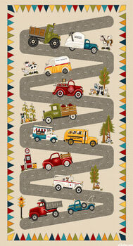 Papaand39s Old Truck Panel From Henry Glass Fabric 9163P 24 x 44