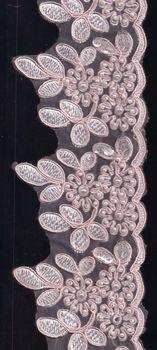 Pearl Lace Trim Vintage Palest Pink
