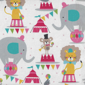 Piccadilly By Maude Asbury For Blend Fabrics 101150012 Circus Animals
