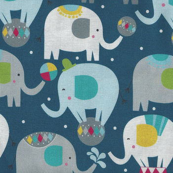 Piccadilly By Maude Asbury For Blend Fabrics 101150021 Elephants
